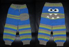 Monster Longies - I really wish I were better at this. I'd make monster pants for BOTH of my boys. =)