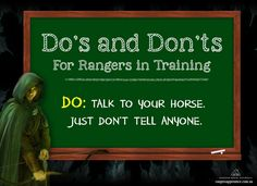 Ranger in Training Do's and Don'ts