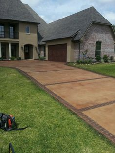 Stained Driveway Lafayette , LA. Repin & Click For More Info or Quote @ Your Home / Business