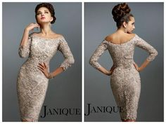Mother Off Bride Dresses 2015 Mermaid Mother Of The Bride Off The Shoulder Grey Lace Knee Length Janique 548 Evening Dresses 3/4 Long Sleeve Petite Mother Of The Groom Dresses Plus Size Dresses For Mother Of The Bride From Beloved_dresses, $113.5| Dhgate.Com