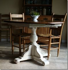 Ideas to refinish Dining room table