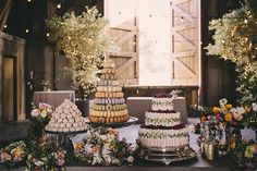Peep This Gorgeous, Vintage-Inspired Wedding #refinery29  http://www.refinery29.com/100-layer-cake/16#slide-22     Cake and Macaroon Tree: Parker Lusseau; Cake balls: Momofuku; Catering: Chef Carlton Lepine at The Preserve ...