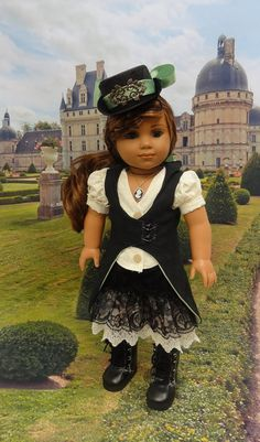 Steampunker- Steampunk styled ensemble for American Girl **RESERVED** on Etsy, Sold