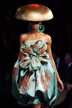 Christian Dior Spring 2008 Haute Couture - HAHAHA!  This looks like something from Lady Gaga's wardrobe.  Shame on you Dior!