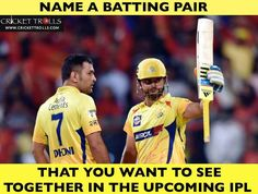Who's your favourite batting pair in the IPL? - http://ift.tt/1ZZ3e4d