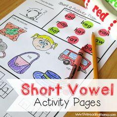 FREE Short Vowel Activity Pages - square - This Reading Mama