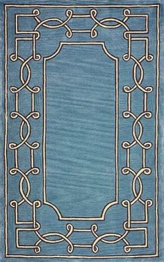 Rugs USA Abrash Bordered GR10 Blue Rug  Modern, Home decor, interior design, style, love, inspire, decor, design, style, area rugs.