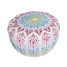 Crytal Embellished Moroccan pouffe!