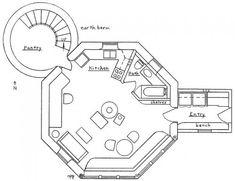 Plans, croquis, 3ds et projets - Superadobe France Plans Loft, Loft Floor Plans, House Floor Plans, Round House Plans, Dream House Plans, Small House Kits, Octagon House, Earth Bag Homes, Earthy Home