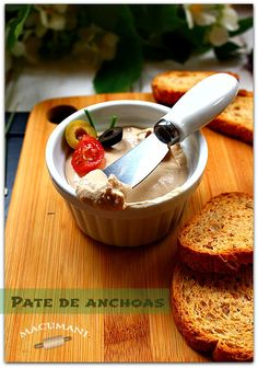 PATE DE ANCHOAS FACIL Vol Au Vent, Appetizer Dips, Appetizer Recipes, Tapas, Salty Foods, Ceviche, Canapes, French Toast, Gluten Free