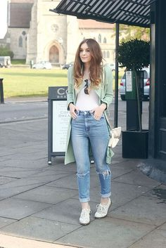 Pastel Mac Outfit Post Spring Outfit Boyfriend Jeans ASOS Olive Clothing by What Olivia Did, via Flickr