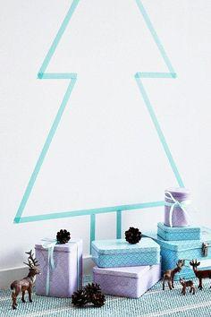 Kerstboom van tape