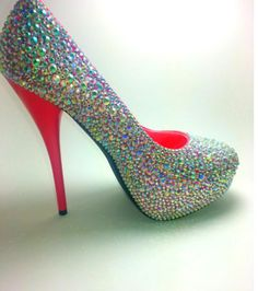 Customized prom heels.