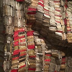 Amazing wall hanging made from bottle tops #africa all metal and linked together #design #colour #culture