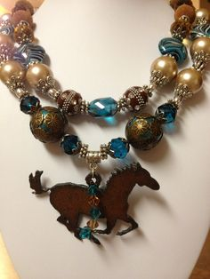 Chunky Cowgirl Necklace / Cowgirl Bling. $52.50, via Etsy.
