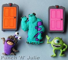 #Monsters inc - #halloween children doors alien disney dress it up #craft buttons, View more on the LINK: http://www.zeppy.io/product/gb/2/400977068074/