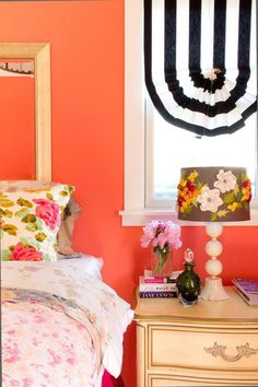 colorful bedroom in a bungalow