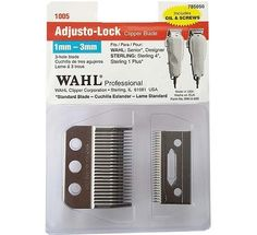 Wahl Adjusto-Lock Clipper Blade For Senior, Designer, Sterling 4, Sterling 1 Plus (1mm -3 mm) #1005 $12.49 Visit www.BarberSalon.com One stop shopping for Professional Barber Supplies, Salon Supplies, Hair & Wigs, Professional Product. GUARANTEE LOW PRICES!!! #barbersupply #barbersupplies #salonsupply #salonsupplies #beautysupply #beautysupplies #barber #salon #hair #wig #deals #sales #wahl #trimmer #clipper #blade #senior #designer #sterling4 #sterling1plus #1005