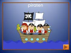 Woordzoeker voor op het digibord of pc Thema Piraten