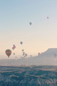 """Cappadocia - Air Balloons"" by Va4lent on Flickr - This photo was taken on a trip to Turkey to visit Cappodocia during Easter."