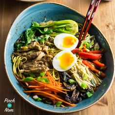 We love a nice big bowl of noodles every now and again, so we thought we'd make some Syn Free Ramen Noodle Bowls! Full of speed food, and perfect on the Slimming World Extra Easy plan. I've had one of those far from perfect Slimming weeks. You know.. The type that starts out with