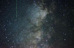 I was shooting photos of the Milky Way and a Meteor shot in front of my camera! (4928x3264) [OC]