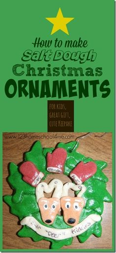 How to Make your own Salt Dough Ornaments - includes a no fail 3 ingredient ornament recipe! These are great for kids to make gifts themselves in this classic Christmas craft or for mom's to make a special keepsake ornament!