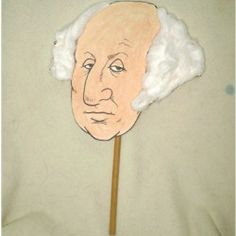 Although we celebrate President's Day on February February is Washington's official birth date and the FreeKidsCrafts Team has designed a puppet George Washington Biography, George Washington Costume, George Washington Facts, Washington Art, My Father's World, Puppet Crafts, Facts For Kids, Holidays With Kids, Presidents Day