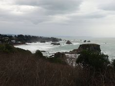 Big waves, big winds, big raindrops, and big-time beauty at Harris Beach State Park on the balmy #SouthernOregon coast. Photo taken February 8, 2015, by Julie Cortez, Oregon Shakespeare Festival. #OregonCoast #traveloregon