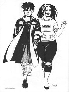 Love and Rockets by Jaime Hernandez - Maggie and Hope!