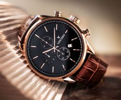 SPECS Case: Rose Gold 316L Surgical Grade Stainless Steel Dial: Black Movement: Citizen Miyota Quartz Strap: Top-Grain Italian Leather (Brown Croc) Interchangeable: Yes Water...
