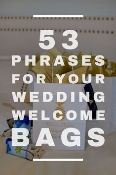 So you've decided to personalize your gift bags for your wedding. Now you need to decide how to personalize them. Whether you're using the bags for hotel welcome bags, bridal party gifts, favors, or anything in between, it … Wedding Gift Bags, Wedding Welcome Bags, Wedding Stuff, Wedding Phrases, Wedding Sayings, Reception Ideas, Wedding Reception, Phrase Party, Hotel Welcome Bags
