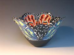Unique nerikomi style coloured porcelain vessels by Judith de Vries Pottery Patterns, Pottery Designs, Porcelain Ceramics, China Porcelain, Painted Porcelain, Glass Ceramic, Ceramic Clay, Japan Shop, Clay Design