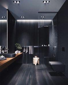 Black Interior Design, Interior Design Inspiration, Design Ideas, Luxury Interior, Design 24, Design Trends, Black Bedroom Design, Modern Luxury Bedroom, Diy Interior