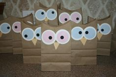 Owl party favors @Pam Baird Bowling - you need these for Emme's birthday!  :)