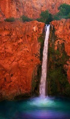 Mooney Falls in the Havasupai Indian Reservation in Arizona