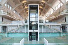 """La Cité Miroir (""""mirror city"""") in the old Sauvenière baths in Liège Art Dégénéré, Exhibition, Luxembourg, Home And Away, Architecture, Netherlands, To Go, Multi Story Building, Old Things"""