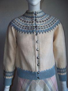 ukjent Norwegian Knitting, Double Knitting, Knitwear, Knit Crochet, Pattern, Sweaters, Jackets, How To Wear, Fair Isles