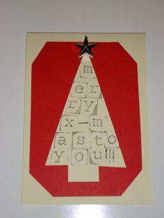 DIY kerstkaartje met stempeltjes nr 16