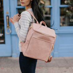 9171c6bbc90 PRE-ORDER  La Mère - Dusty Rose Diaper Bag Backpack