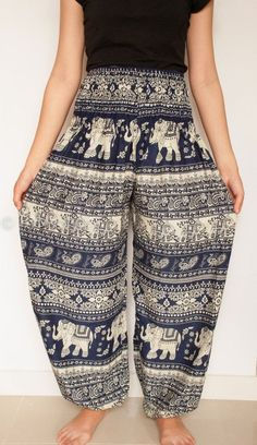Woman harem pant Harem Pants/Yoga Pants/Aladdin Pants/Boho Pants with Pocket/rayon print fabric/elastic waist harem pant thai pant long pant