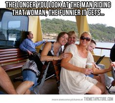 """The longer you look at the man riding that woman, the funnier it gets."" #humor #funny #photo"