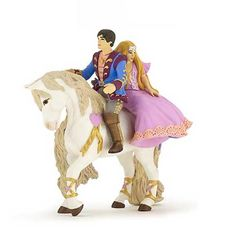 Papo Prince and Princess on Horse Retired Fantasy Love RPG Toy Gift Fast Ship for sale online
