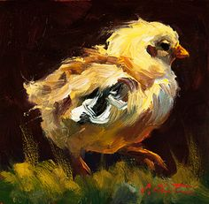 On The Move by Cheri Christensen ~ 6 x 6 Birds Painting, Animal Art, Small Paintings, Oil Painting Landscape, Painting, Art, Animal Paintings, Bird Art, Chicken Art