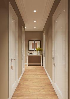 Hallway – Home Decor Designs Flur Design, Plafond Design, Girl Bedroom Designs, Living Room Designs, Hallway Decorating, Interior Decorating, Hallway Ceiling, Hallway Lighting, Hallway Designs