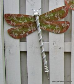 hand painted dragonfly
