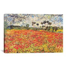 """Field of Poppies"" by Vincent Van Gogh Painting Print on Canvas"