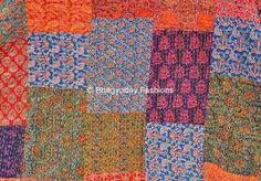 Textile Shop: SPECIAL OFFERKantha Quilt Textile block print han...
