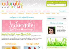 blog design: Adorable Child Theme, $80...detailed tutorials, unlimited updates and support, instant design access  {used by TomKat Studios}