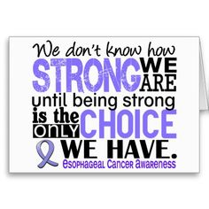 Esophageal Cancer How Strong We Are Card